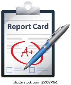 Report Card - Illustration