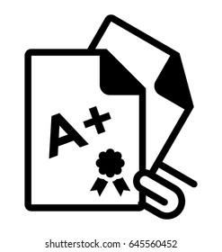 Report Card Vector Icon