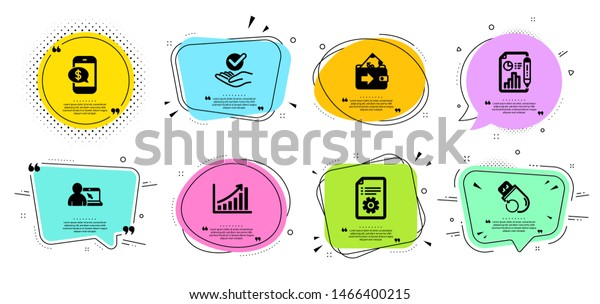 report document graph chart phone payment stock vector royalty