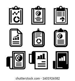 report icon isolated sign symbol vector illustration - Collection of high quality black style vector icons