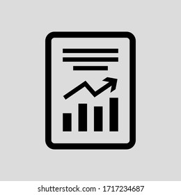 report vector icon flat simple