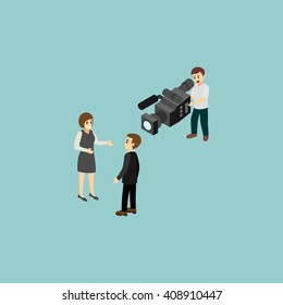 Reporter icon, element, concept and design template vector illustration