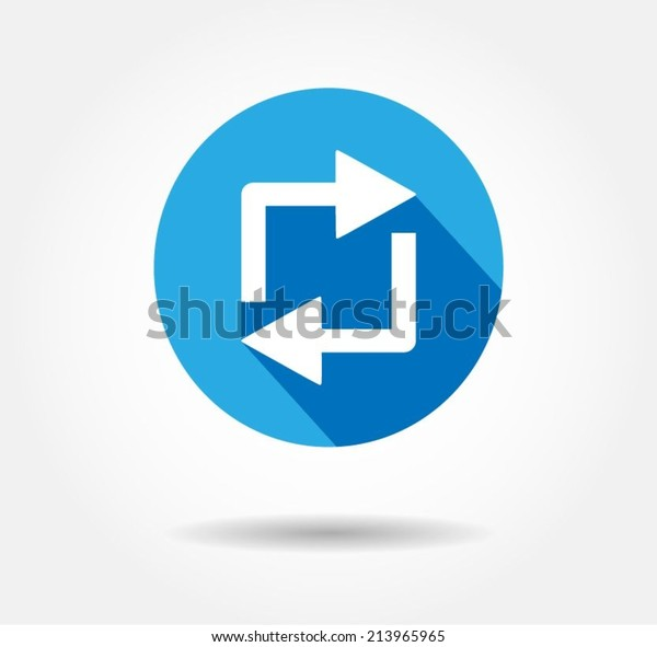 Repost button repost logo retweet icon flat Vector illustration eps 10