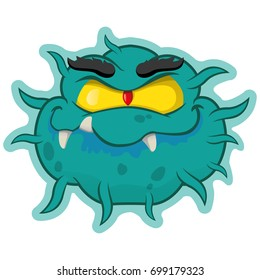 Representation cartoon a superbug microorganism, virus. Ideal for informative and medicinal materials