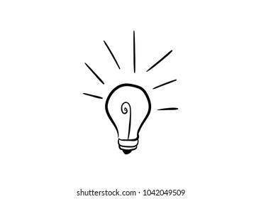 representation of an idea or inspiration with incandescent lightbulb doodle icon vector