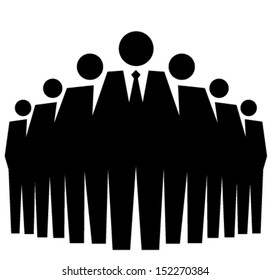 Representative of a group of people, leadership vector illustration concept