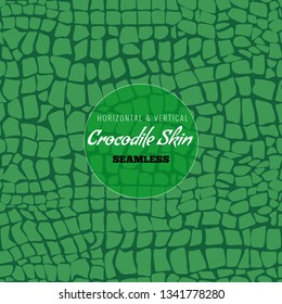 Reptile Alligator skin seamless pattern. Crocodile skin texture for textile design. Vector illustration.