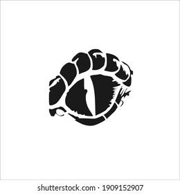 Reptile Eye Symbol. Tattoo Design. Vector Illustration.