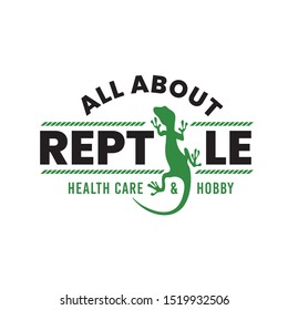 Reptile logo. good for reptile club lover logo, reptile event logo, also reptile health care