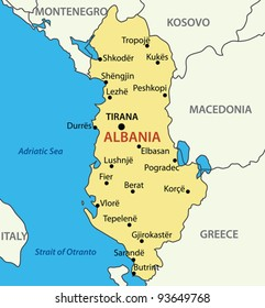 albania on the map Albania Map Images Stock Photos Vectors Shutterstock albania on the map