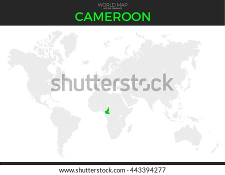 Republic Cameroon Location Modern Detailed Vector Stock Vector ...