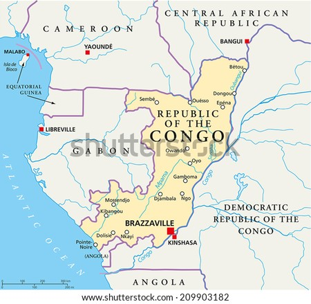Dem Rep Of Congo Map on