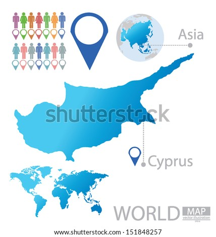Republic cyprus asia world map vector stock vector royalty free republic of cyprus asia world map vector illustration gumiabroncs Images