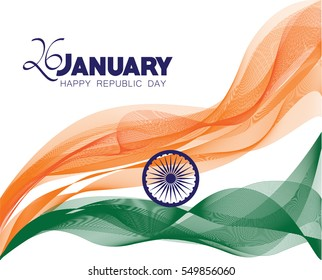 Republic day india flag images