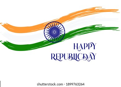 Republic day of India background Celebration, 26 January India Republic Day background with indian flag tri color  concept .Suitable for greeting card, poster and banner.