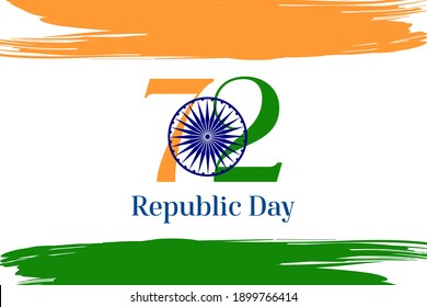 Republic day of India background Celebration, 26 January 72  India Republic Day background with indian flag concept .Suitable for greeting card, poster and banner.
