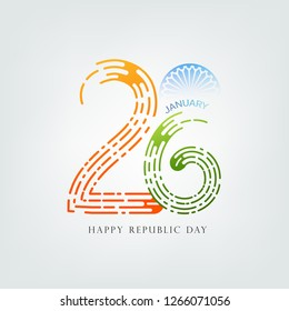 Republic Day India Celebration on 26 January with background poster, banner