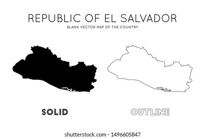 El Salvador Outline Images, Stock Photos & Vectors ...
