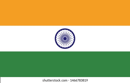 Republic of India. National flag, correct proportions. Abstract concept, icon.