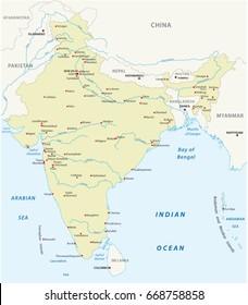 Republic of India vector map
