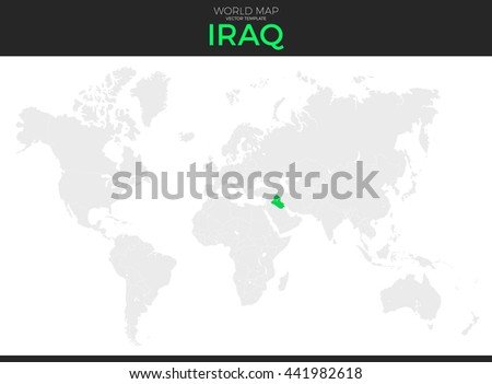 Where Is Iraq Located On The World Map.Republic Iraq Location Modern Detailed Vector Stock Vector Royalty