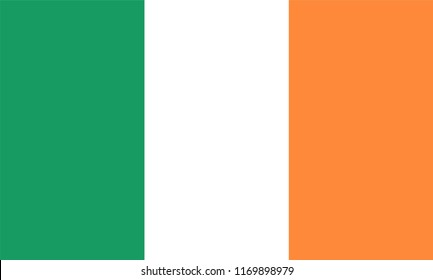 Republic of Ireland Flag, Vector image and icon