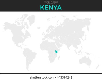 Location nairobi images stock photos vectors shutterstock republic of kenya location modern detailed vector map all world countries without names vector gumiabroncs Image collections