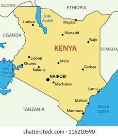 Kenya Map Images, Stock Photos & Vectors | Shutterstock