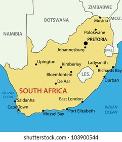 Republic of South Africa - vector map