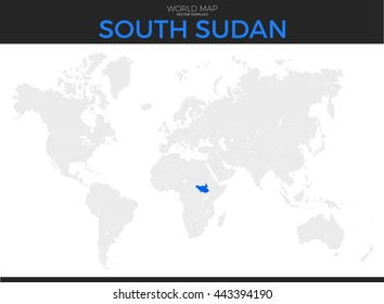 World Map South Sudan Stock Illustrations, Images & Vectors ...