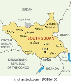 1000 South Sudan Map Stock Images Photos Vectors Shutterstock