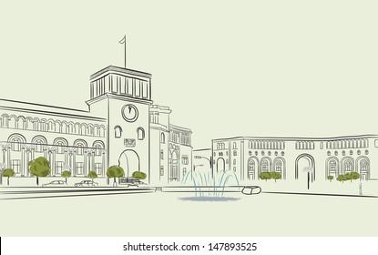 Republic Square. Yerevan. Armenia.