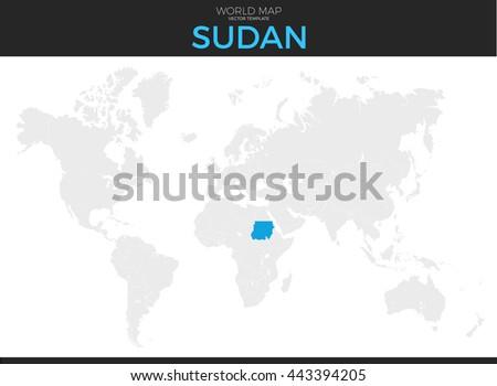 Republic Sudan Location Modern Detailed Vector Stock Vector (Royalty ...