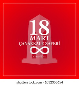 Republic of Turkey National Celebration Card. 18 March Canakkale victory day.  Turkish :  Canakkale zaferi 18 Mart.  English translation:  Anniversary of Canakkale victory day 18 March