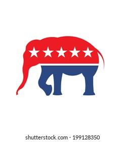 Republican Elephant symbol image. Vector icon