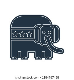 Republican icon vector isolated on white background for your web and mobile app design, Republican logo concept