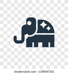 Republican vector icon isolated on transparent background, Republican transparency logo concept