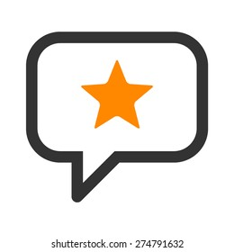 Reputation management or customer review line art icon for apps and websites
