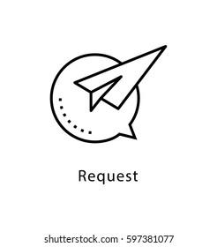 Request Vector Line Icon