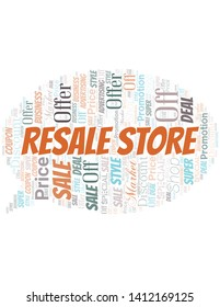Resale Store Word Cloud. Wordcloud Made With Text.