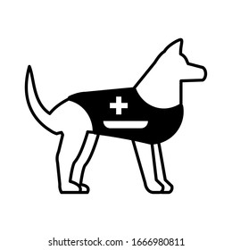 rescue dog on white background vector illustration design