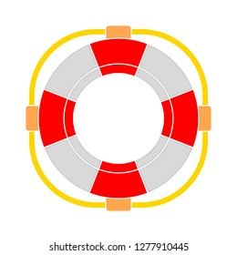 rescue icon - rescue isolate, lifebuoy illustration- Vector rescue buoy