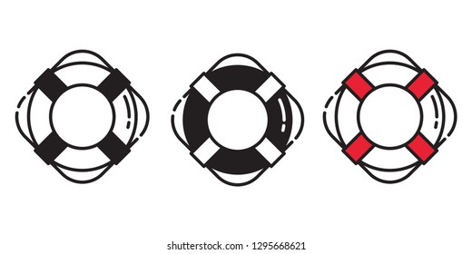 Rescue Ring vector icon logo boat swimming pool beach sea ocean anchor helm maritime Nautical pirate illustration graphic symbol