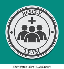 rescue team icon vector illustration.