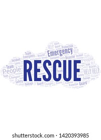 Rescue.Png Word Cloud. Wordcloud Made With Text.