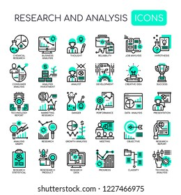 Research and Analysis , Thin Line and Pixel Perfect Icons