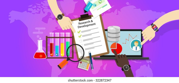 research and development r&d concept innovation laboratory