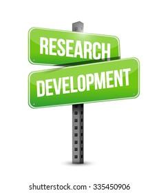 research development sign concept illustration design icon graphic