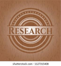 Research vintage wood emblem