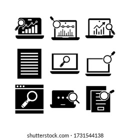 researching  icon or logo isolated sign symbol vector illustration - Collection of high quality black style vector icons